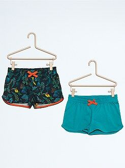 Short, pantacourt - Lot de 2 shorts en coton