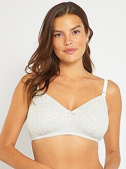 Allaitement, grossesse - Lot de 2 soutiens-gorge d'allaitement en coton