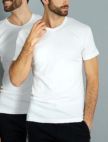 Lot de 2 T-shirts en coton col V 'Dim' - Kiabi