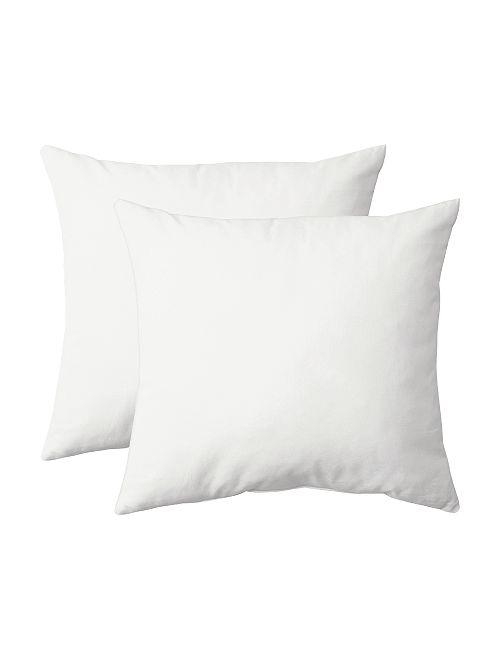 Lot de 2 taies d'oreiller                                                         blanc