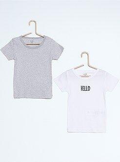 Tee shirt, polo blanc - Lot de 2 tee-shirt coton