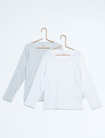 lot de 2 tee-shirts pur coton - Kiabi