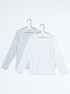 Tee shirt, polo gris - lot de 2 tee-shirts pur coton