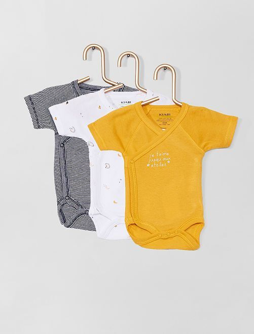 Lot de 3 bodies                                                                 jaune/blanc/rayé