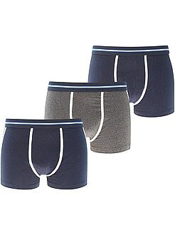 Sous-vêtements - Lot de 3 boxers bicolores - Kiabi