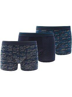 Sous-vêtements - Lot de 3 boxers en coton stretch
