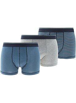 Homme du S au XXL Lot de 3 boxers en coton stretch