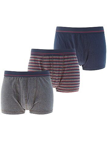 Lot de 3 boxers en coton stretch - Kiabi