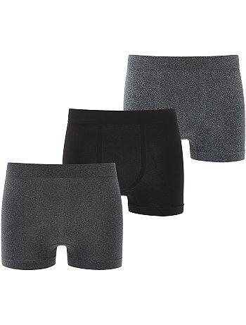 Lot de 3 boxers microfibre sans couture - Kiabi