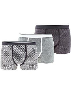 Homme du S au XXL Lot de 3 boxers stretch