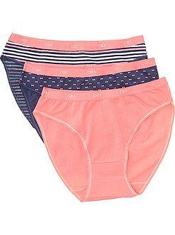 Lingerie grande taille rose - Lot de 3 culottes Les Pockets de 'DIM'