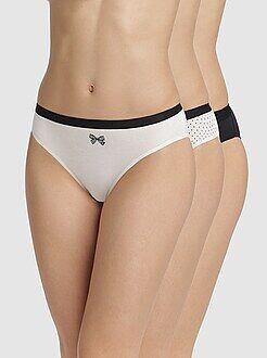 Lingerie grande taille - Lot de 3 culottes Les Pockets de 'DIM'
