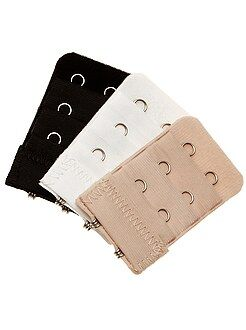 Accessoires lingerie - Lot de 3 extensions de soutien-gorge 2 crochets - Kiabi