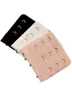 Accessoires lingerie - Lot de 3 extensions de soutien-gorge 3 crochets
