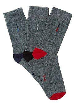 Chaussettes gris - Lot de 3 paires de chaussettes