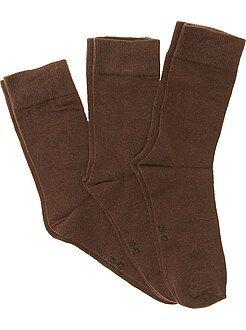 Chaussettes marron - Lot de 3 paires de chaussettes