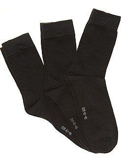 Homme du S au XXL Lot de 3 paires de chaussettes