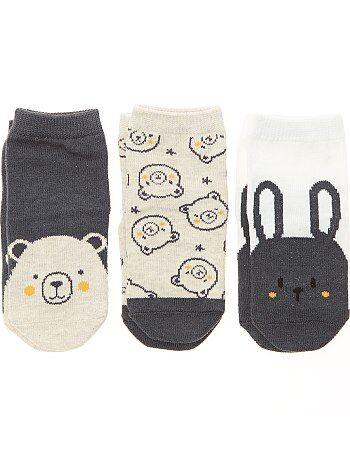 Lot de 3 paires de chaussettes antidérapantes - Kiabi