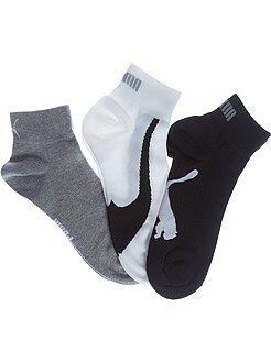 Chaussettes blanc - Lot de 3 paires de chaussettes basses 'Puma'