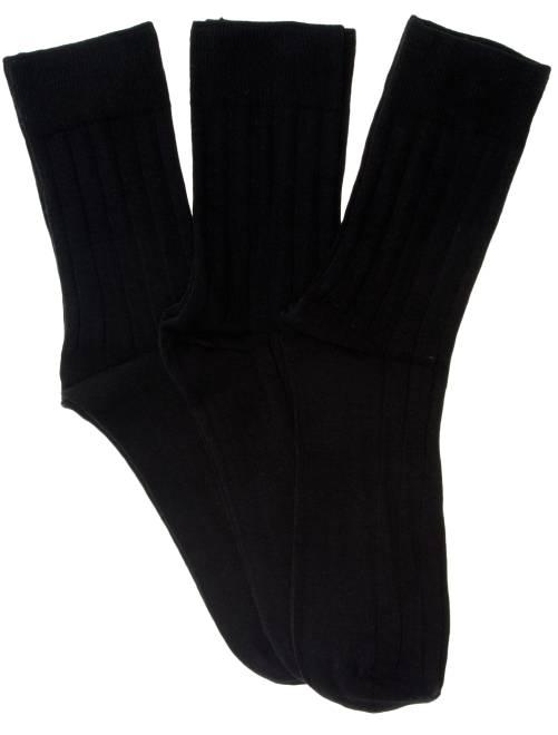 lot de 3 paires de chaussettes fines c tes homme noir. Black Bedroom Furniture Sets. Home Design Ideas