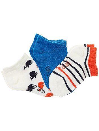 Lot de 3 paires de chaussettes invisbles - Kiabi