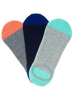 Chaussettes rose - Lot de 3 paires de chaussettes invisibles