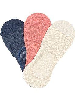 Collants, chaussettes - Lot de 3 paires de chaussettes invisibles