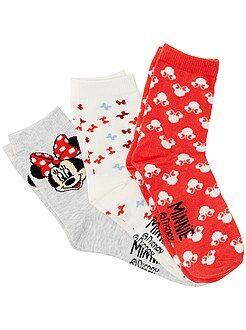 Lot de 3 paires de chaussettes 'Minnie'