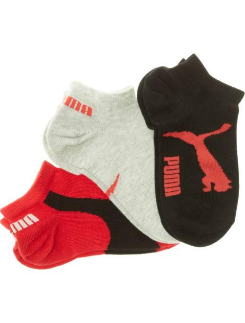 Lot de 3 paires de chaussettes 'Puma' tige courte                                                         noir/gris/rouge