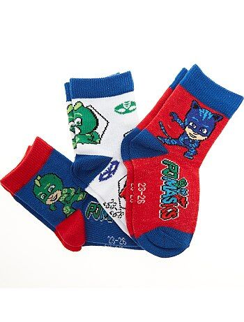 Garçon 3-12 ans - Lot de 3 paires de chaussettes 'Pyjamasque' - Kiabi