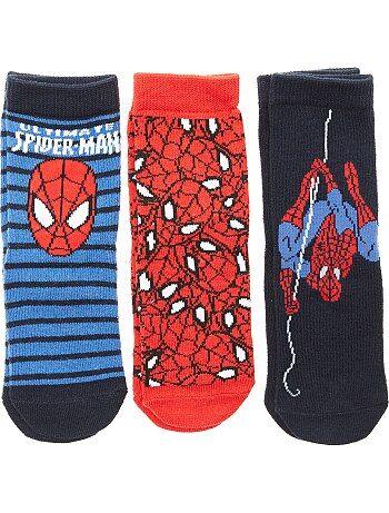 Garçon 3-12 ans - Lot de 3 paires de chaussettes 'Spider-Man' - Kiabi