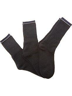 Homme du S au XXL Lot de 3 paires de chaussettes sport