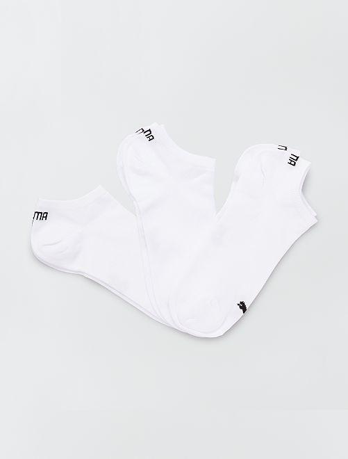 Lot de 3 paires de socquettes blanches 'Puma'                             blanc