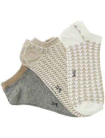 Lot de 3 paires de socquettes - Kiabi