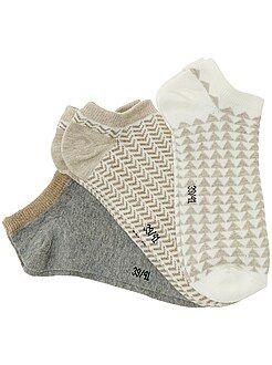 Collants, chaussettes - Lot de 3 paires de socquettes