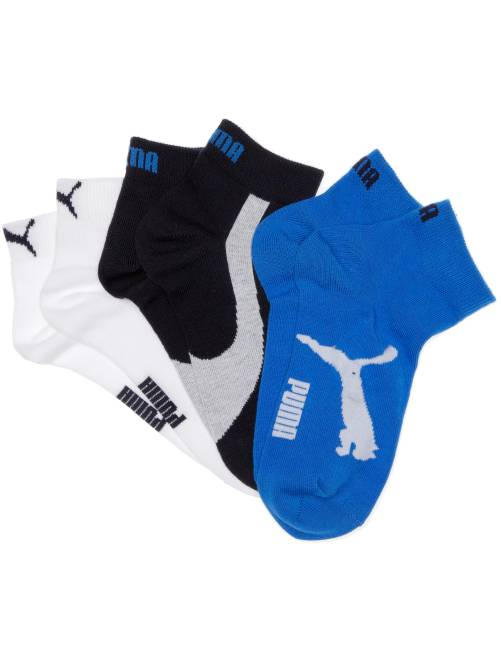 Lot de 3 paires de socquettes 'Puma' à tige courte                                                                                                                 marine/blanc/bleu Garcon adolescent