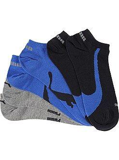 Chaussettes bleu - Lot de 3 paires de socquettes 'Puma'
