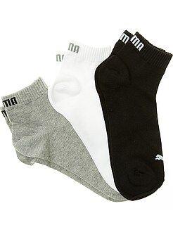 Chaussettes gris - Lot de 3 paires de soquettes 'Puma' tige courte