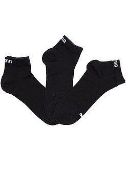 Chaussettes noir - Lot de 3 paires de soquettes 'Puma' tige courte