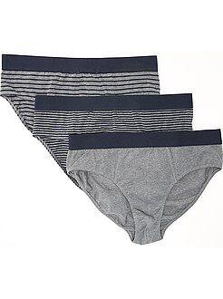 Sous-vêtements - Lot de 3 slips en coton stretch