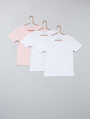 Lot de 3 t-shirts unis - Kiabi