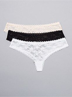 Lot de 3 tangas en dentelle