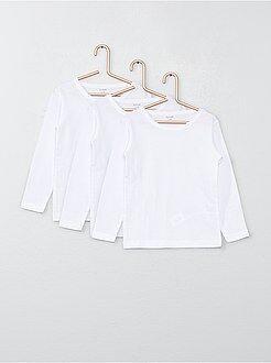 Tee shirt, polo - Lot de 3 tee-shirts manches longues en coton