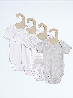Sous-vêtement - Lot de 4 bodies coton