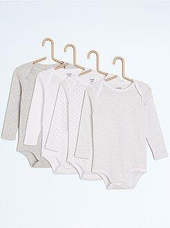 Sous-vêtement - Lot de 4 bodies fantaisie