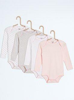 Sous-vêtement - Lot de 4 bodies fantaisie - Kiabi