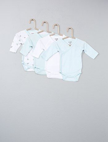 Lot de 4 bodies pur coton - Kiabi