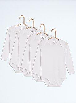 Sous-vêtement - Lot de 4 bodies unis - Kiabi