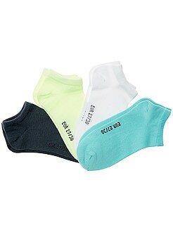 Chaussettes - Lot de 4 paires de chaussettes invisibles - Kiabi