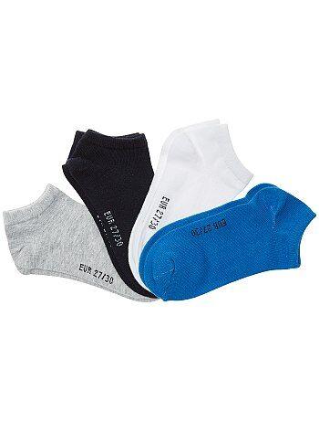 Garçon 3-12 ans - Lot de 4 paires de chaussettes invisibles - Kiabi